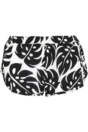 MIKOH Printed voile shorts