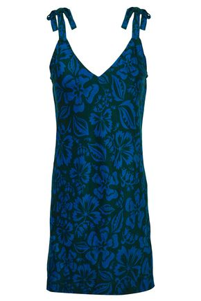 MIKOH Printed cotton and silk-blend coverup