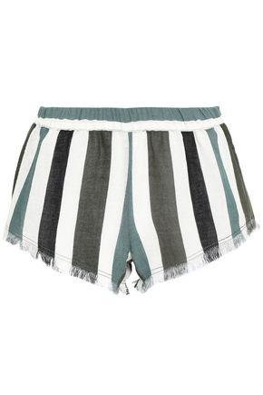 MIKOH Waioloa striped cotton-gauze shorts