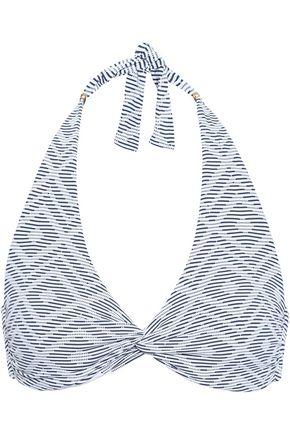 MELISSA ODABASH Africa twist-front stretch-piqué halterneck bikini top