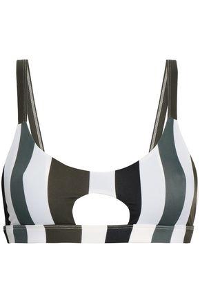 MIKOH Cutout striped bikini top