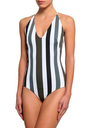 MIKOH Striped swimsuit