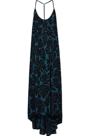MIKOH Open-back printed woven maxi dress