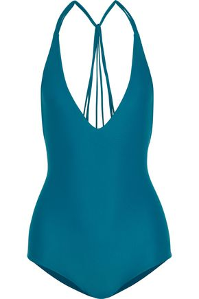 MIKOH Ipanema strap-detailed halterneck swimsuit