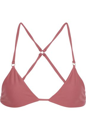 MIKOH Ahulani ring-embellished triangle bikini top