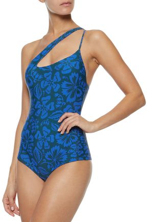 MIKOH Pahoa one-shoulder printed swimsuit