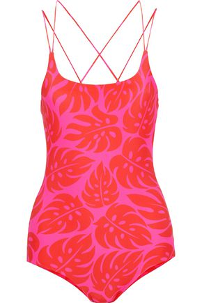 MIKOH Kilauea cutout printed swimsuit