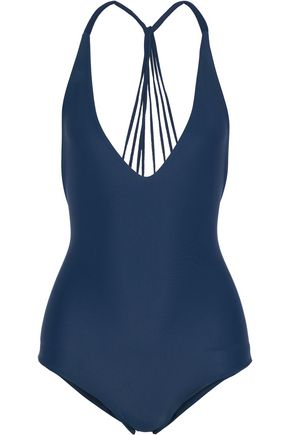MIKOH Ipanema strap-detailed halterneck swimsuit