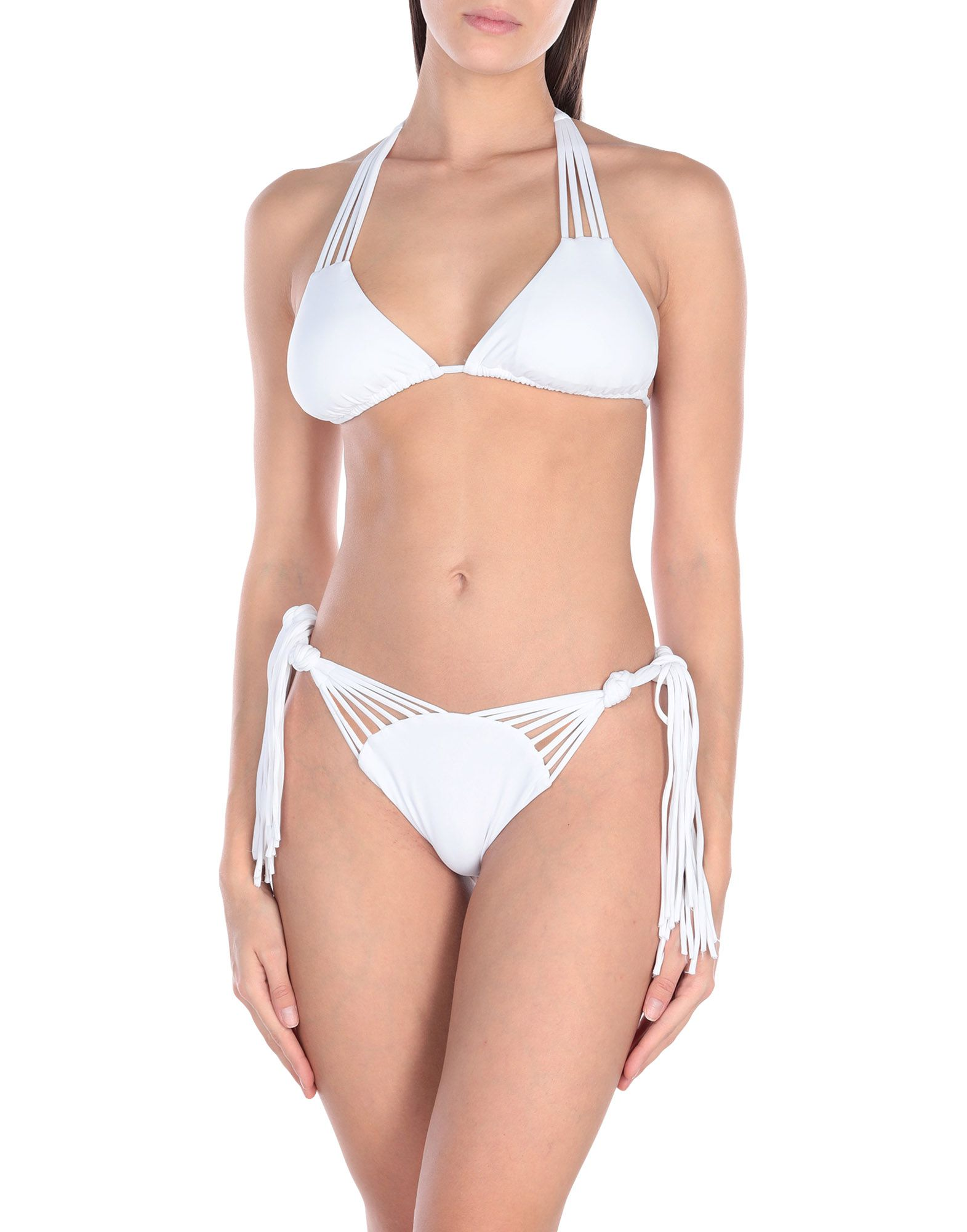 MISS BIKINI LUXE Бикини white stitching random geometrical print bikini set
