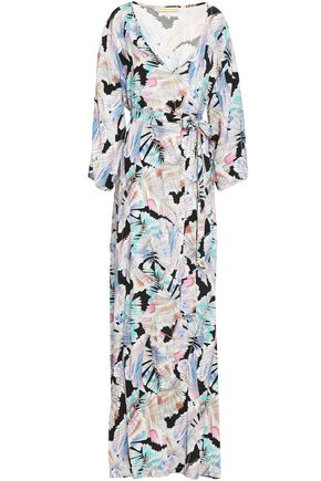 MELISSA ODABASH Printed chiffon maxi dress