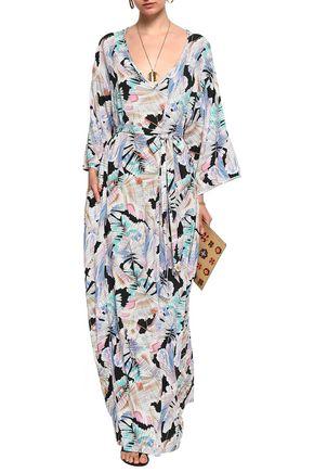 MELISSA ODABASH Printed chiffon maxi dress