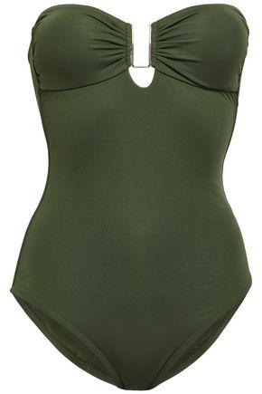 MELISSA ODABASH Argentina strapless embellished swimsuit