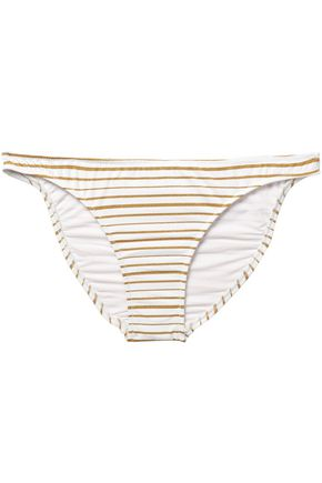 MELISSA ODABASH Aruba metallic striped mid-rise bikini briefs