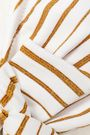 MELISSA ODABASH Aruba knotted printed bandeau bikini top
