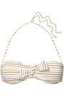 MELISSA ODABASH Aruba knotted metallic striped bandeau bikini top