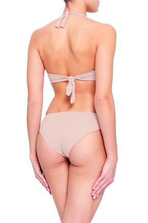 MELISSA ODABASH Africa stretch-piqué low-rise bikini briefs