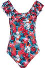 TART COLLECTIONS Peyton ruffled floral-print swimsuit