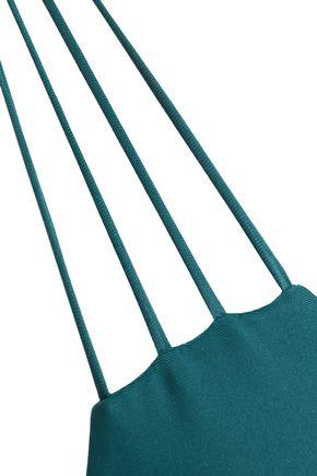 MIKOH Knotted halterneck bikini top