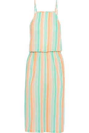 TART COLLECTIONS Olivia striped cotton-gauze dress