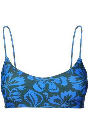 MIKOH Capri striped bikini top