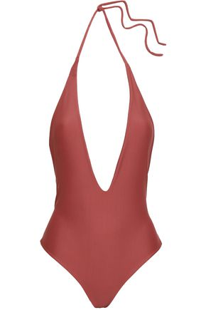 MIKOH Open-back halterneck swimsuit
