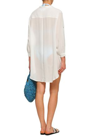 BOWER Asymmetric voile coverup