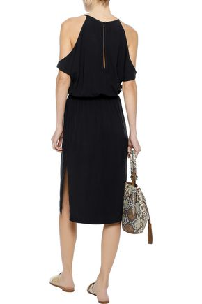 TART COLLECTIONS Aubrey cold-shoulder cutout gauze dress