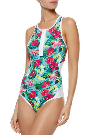 TART COLLECTIONS Hadley cutout floral-print swimsuit