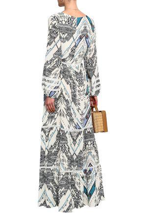 MELISSA ODABASH Printed chiffon maxi dress coverup