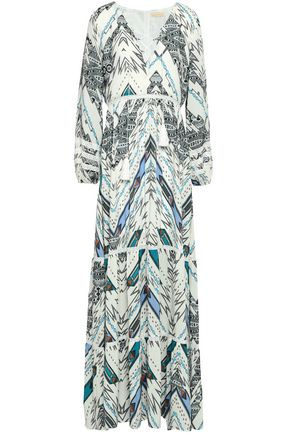 MELISSA ODABASH Printed chiffon maxi dress coverup