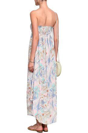 MELISSA ODABASH Strapless snake-print silk-chiffon maxi dress