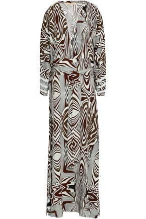 MELISSA ODABASH Printed woven maxi dress