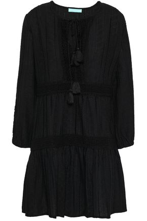 MELISSA ODABASH Embroidered cotton-gauze coverup