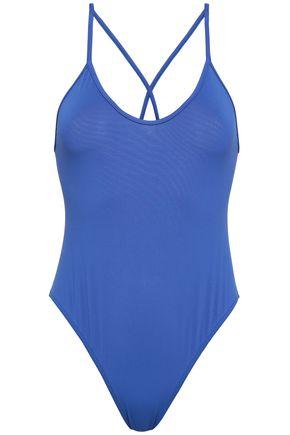 BOWER Open-back swimsuit