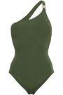 MELISSA ODABASH Seychelles embellished one-shoulder swimsuit