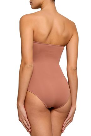 MELISSA ODABASH Argentina printed bandeau swimsuit