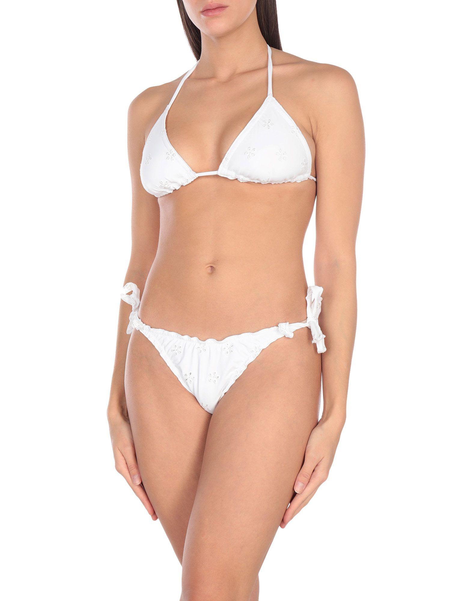 《セール開催中》FLAVIA PADOVAN レディース 水着(ビキニ) ホワイト I ナイロン 80% / ポリウレタン 20%
