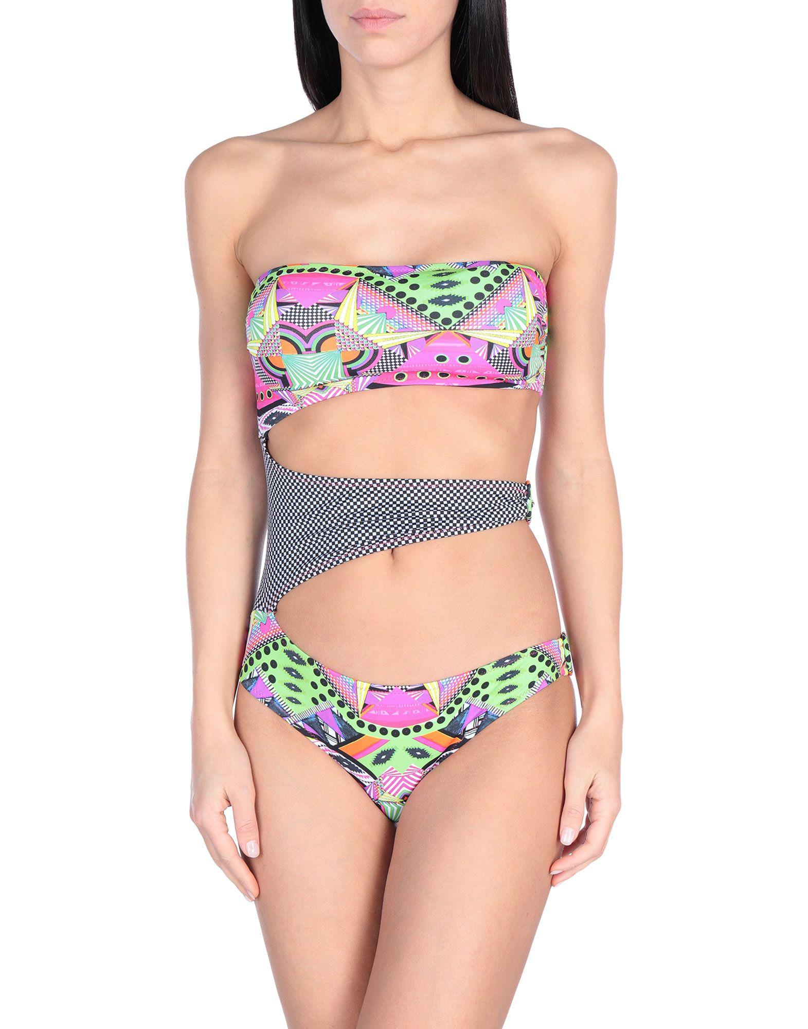 BIKINI COUTURE Слитный купальник white stitching random geometrical print bikini set