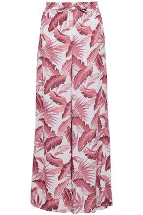 ONIA Printed woven wide-leg pants
