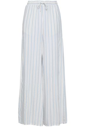 ONIA Striped woven wide-leg pants