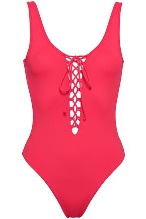ONIA Lace-up swimsuit