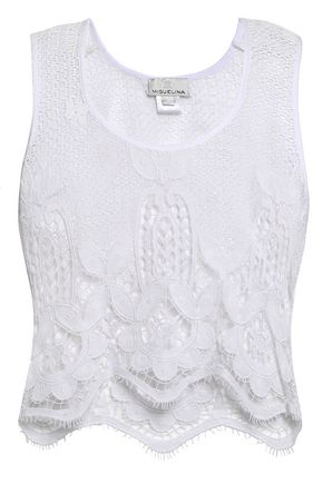 MIGUELINA Cotton lace top