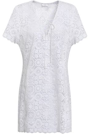 MIGUELINA Athena cotton lace coverup