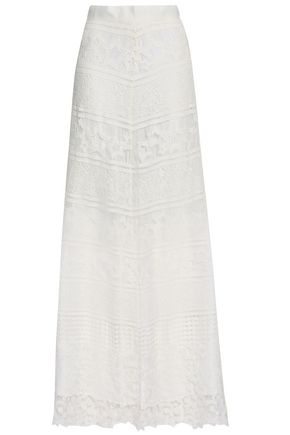 MIGUELINA Asher guipure lace maxi skirt