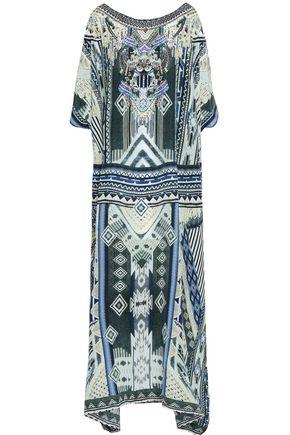 CAMILLA Embellished printed silk kaftan