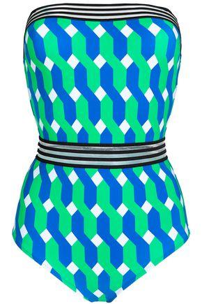 EMMA PAKE Monica mesh-trimmed printed swimsuit