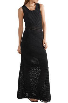 TABULA RASA Ottoman cutout open-knit maxi dress
