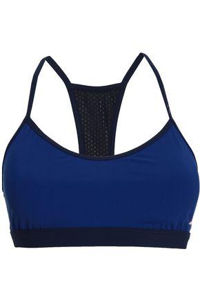 ADIDAS Mesh and tech-jersey sports bra