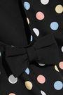 CAROLINE CONSTAS Clio bow-embellished polka-dot swimsuit
