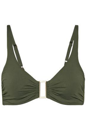 MELISSA ODABASH Bel Air D-G embellished ruched bikini top